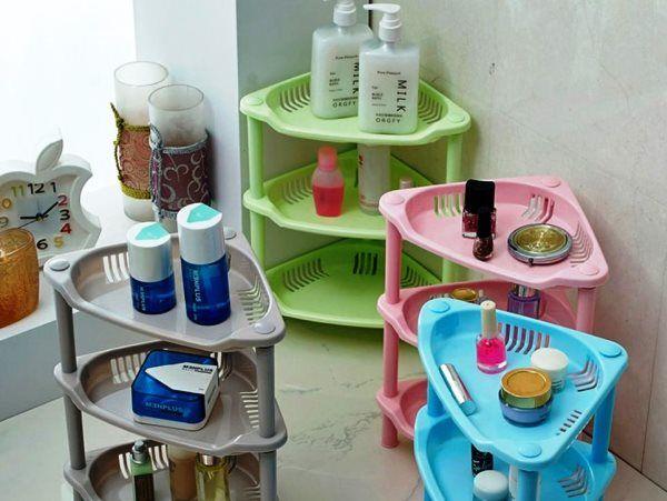 полки для ванной комнаты из пластика