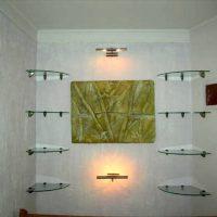 полка в ванную фото 32