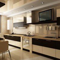 прямая кухня фото 48