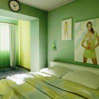 дизайн зеленой спальни фото 11