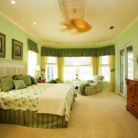 дизайн зеленой спальни фото 13
