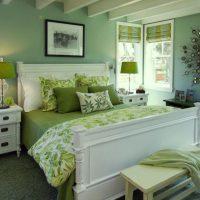 дизайн зеленой спальни фото 18