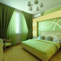 дизайн зеленой спальни фото 19