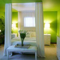 дизайн зеленой спальни фото 2