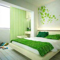 дизайн зеленой спальни фото 20