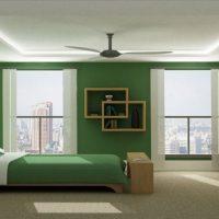 дизайн зеленой спальни фото 27