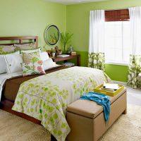дизайн зеленой спальни фото 29