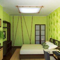 дизайн зеленой спальни фото 3