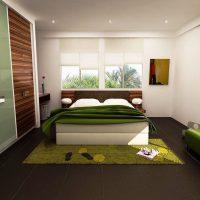 дизайн зеленой спальни фото 30