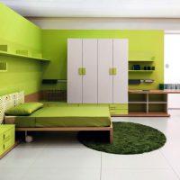 дизайн зеленой спальни фото 33