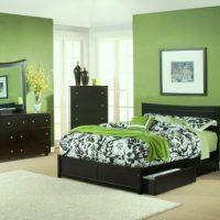 дизайн зеленой спальни фото 34