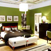 дизайн зеленой спальни фото 35
