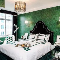 дизайн зеленой спальни фото 37