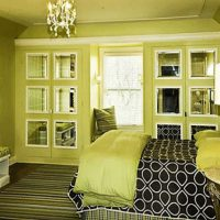 дизайн зеленой спальни фото 4