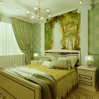 дизайн зеленой спальни фото 40