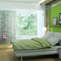 дизайн зеленой спальни фото 45