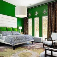 дизайн зеленой спальни фото 5