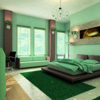 дизайн зеленой спальни фото 50