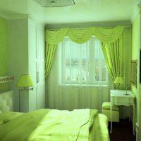 дизайн зеленой спальни фото 6