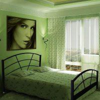 дизайн зеленой спальни фото 8
