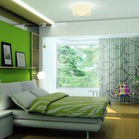 дизайн зеленой спальни фото 9