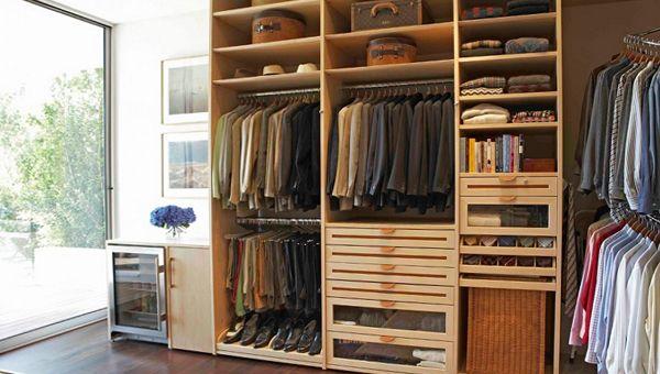 небольшая гардеробная комната фото