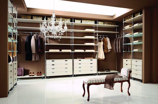 наполнение гардеробной комнаты фото