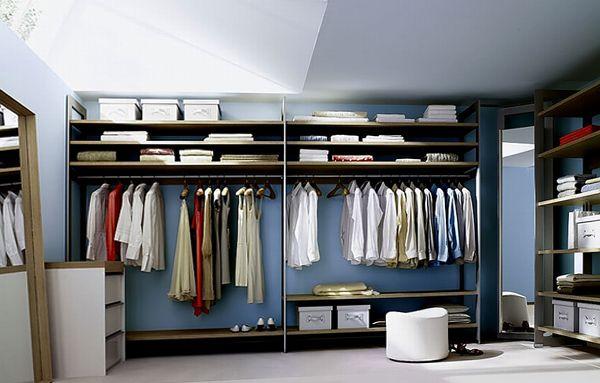 как обустроить гардеробную комнату фото