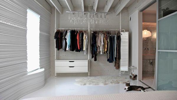 гардеробная в комнате 18 кв м фото