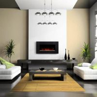 гостиная в черно белом цвете фото 12
