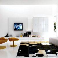 гостиная в черно белом цвете фото 18