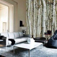 гостиная в черно белом цвете фото 24