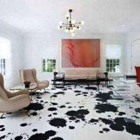 гостиная в черно белом цвете фото 25