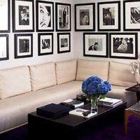 гостиная в черно белом цвете фото 27
