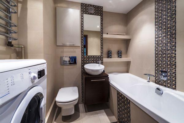 Туалет совмещенный с ванной дизайн фото
