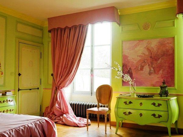 спальня в зеленых тонах фото 11