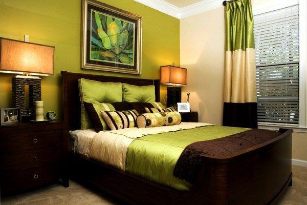 спальня в зеленых тонах фото 13
