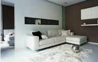 черно белый интерьер гостиной