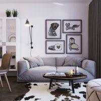 гостиная в скандинавском стиле фото 17