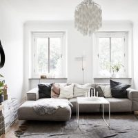 гостиная в скандинавском стиле фото 29