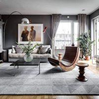гостиная в скандинавском стиле фото 53
