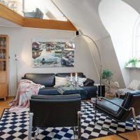 гостиная в скандинавском стиле фото 58