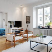 гостиная в скандинавском стиле фото 62