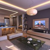 гостиная в стиле хай тек фото 36
