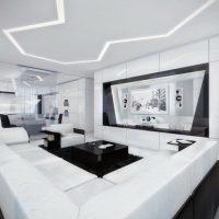 гостиная в стиле хай тек фото 51