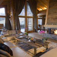 гостиная в стиле кантри фото 52
