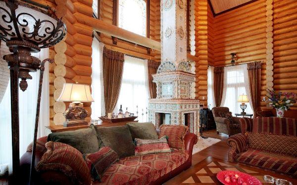 гостиная в стиле кантри фото 6