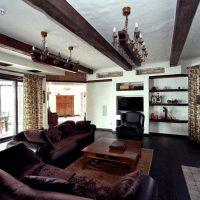 гостиная в стиле кантри фото 65