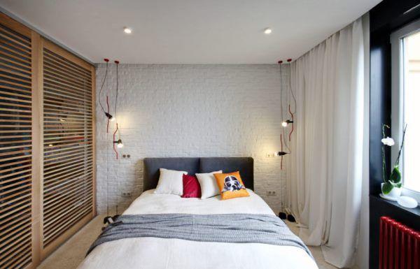 матовые натяжные потолки для спальни, фото