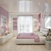 натяжные потолки в спальне фото 25